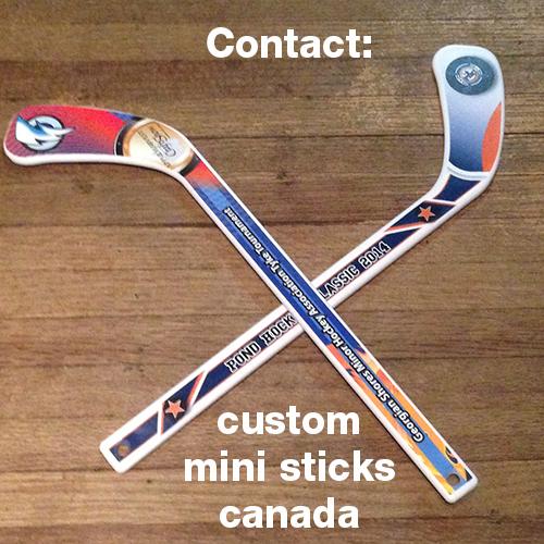 Contact Canadian Custom Mini Hockey Sticks
