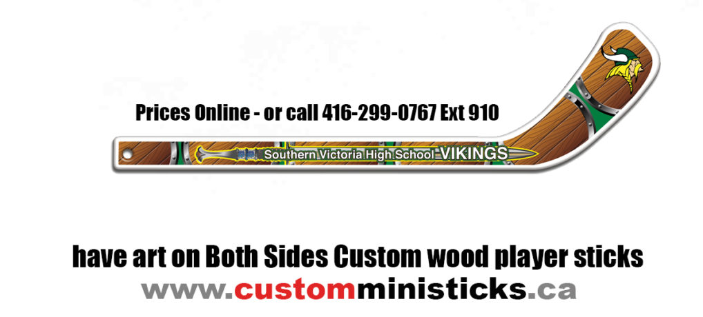 Both Sides Custom wood player sticks Hockey