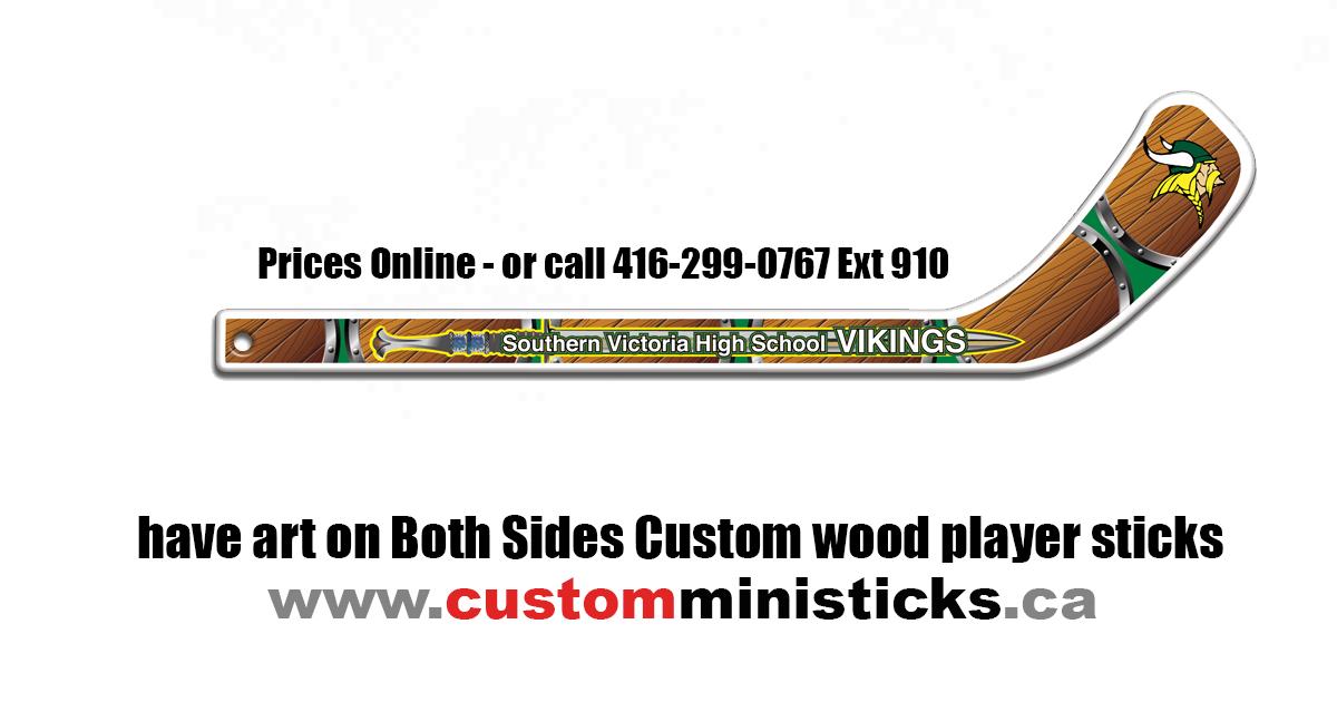 Double Canadian Custom Mini Hockey Sticks