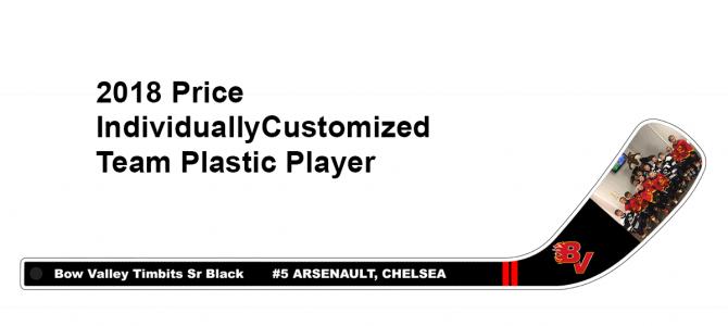 2018 Price Individually Customized Team Plastic Player