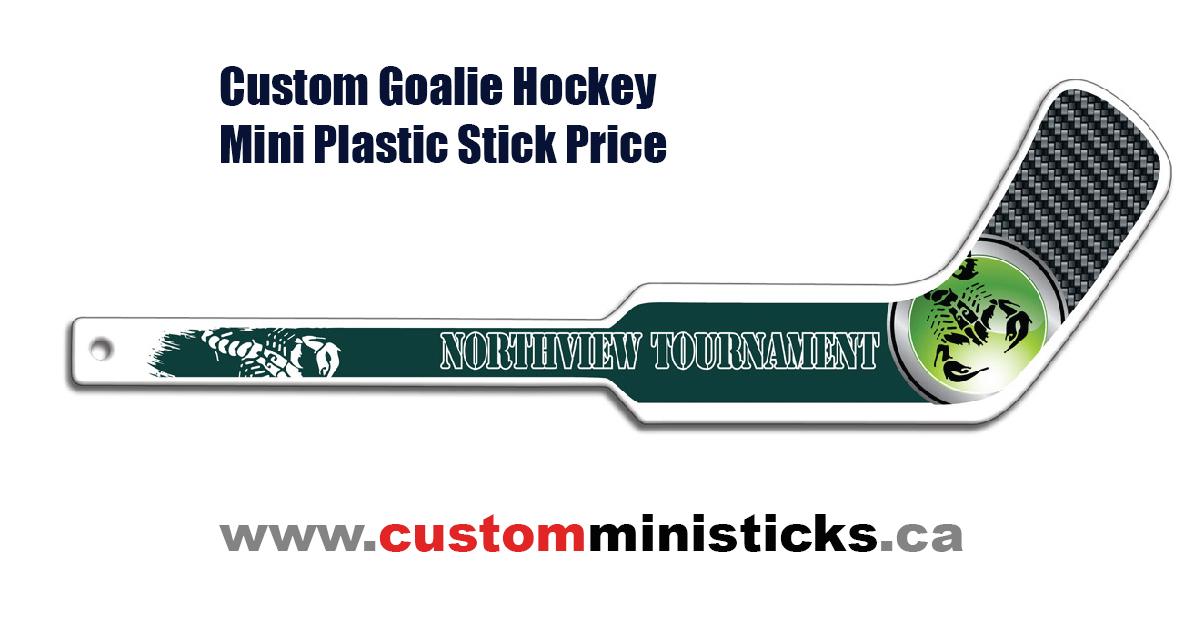 Facebook Goalie Canadian Custom Mini Hockey Sticks