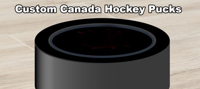 Custom Canada Hockey Pucks